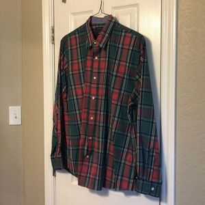 Red and green plaid Crown & Ivy shirt